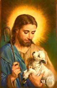Jesus_147 holding lamb